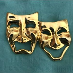 Theater Mask Brooch